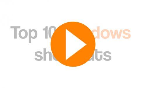 Top 10 WIndows shortcuts