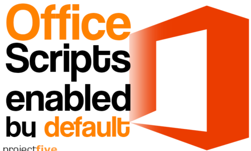 Office Scripts enabled by default